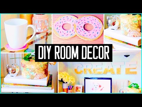 6 04 diy room decor desk decorations cheap cute projects on. Black Bedroom Furniture Sets. Home Design Ideas