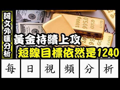 2017.2.7 阿文外匯分析 黃金保持多頭格局 短線目標看到1240