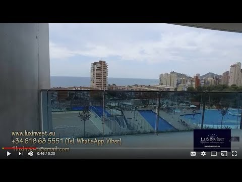 Apartments in an exclusive residential complex in the resort town of Benidorm at the Costa Blanca