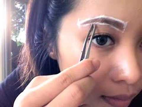 eyebrows - A basic tutorial on how to shape, pluck and refine your eyebrows for a natural look. Detailed step by step instruction can be found here http://www.xanga.com...
