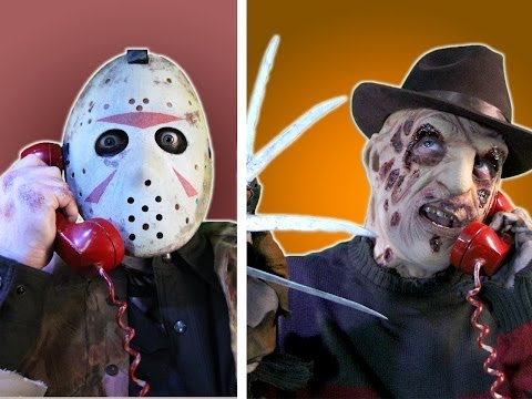 barelypolitical - Freddy, Jason, Leatherface, Michael Myers, and Jigsaw brainstorm! Subscribe to BarelyPolitical! http://bit.ly/Nf8avU The Key of Awesome playlist! http://bit.ly/14A6SGK The Key of Awesome...