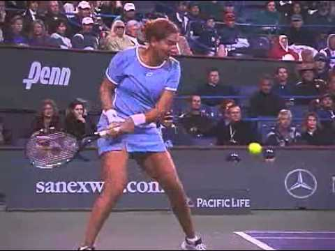 Monica Seles backhand
