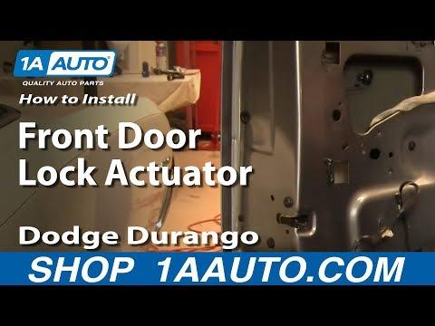 How To Install Replace Front Door Lock Actuator Dodge Durango 04-09 1AAuto.com