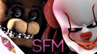 SFM IT vs Five Nights At Freddys  Pennywise vs Freddy  Rockit Gaming