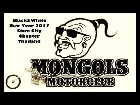 Black & White New Year Party 2017 : Siam City Chapter Mongols MC Thailand