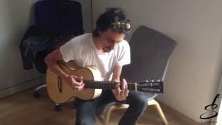 Alberto Ferrari (Verdena) prova le chitarre di Liuteria Sala