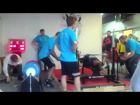 Henning Kristensen første styrkeløftkonkurrence – DM i styrkeløft RAW 2012