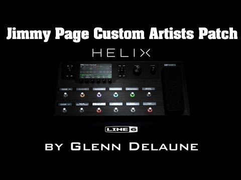 Line 6 Helix Jimmy Page Custom Artist Patch - by Glenn DeLaune