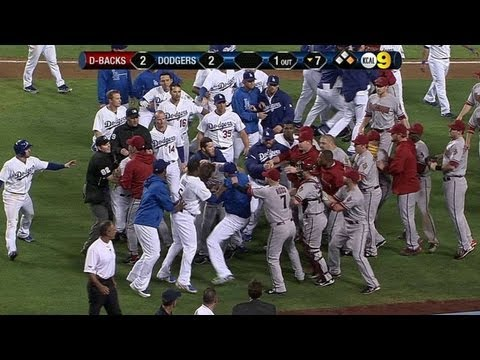 Los Angeles Dodgers - 6/11/13: Benches clear for the second time after Ian Kennedy plunks Zack Greinke in the bottom of the seventh Check out http://MLB.com/video for more! About ...