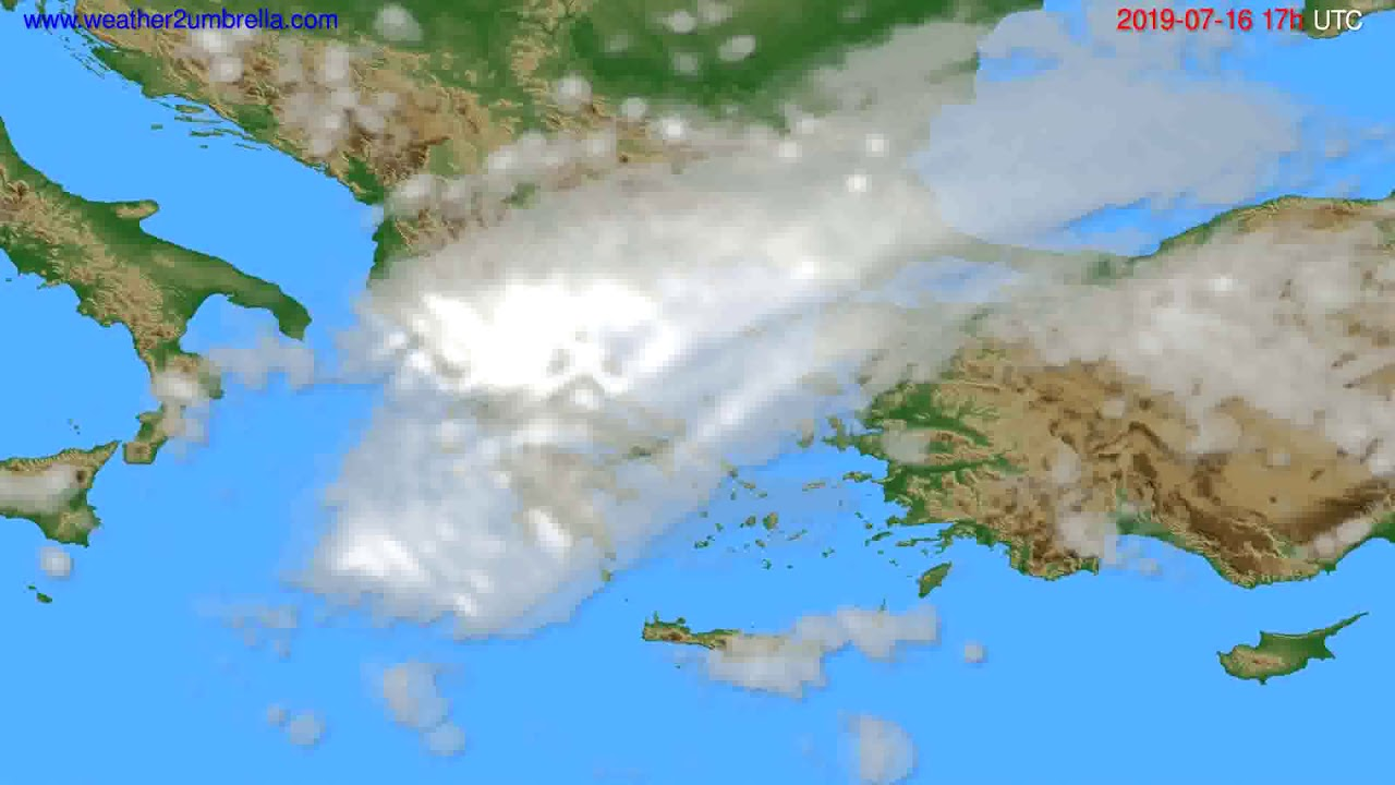 Cloud forecast Greece // modelrun: 00h UTC 2019-07-15