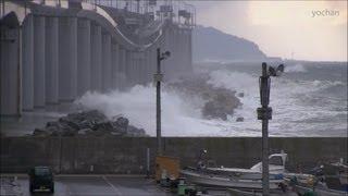 Itoigawa Japan  city photos : Rough sea.Itoigawa Geopark.at Oyashirazu beach(Japan) 大荒れの親不知。浜辺の風景