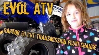 7. Evol ATV - 2017 Raptor 90 CVT transmission fluid change