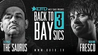 KOTD - Rap Battle - The Saurus vs Fresco | #B2B3