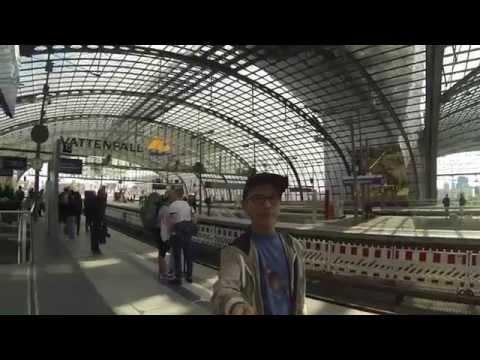 GoPro Selfie: Berlin Hauptbahnhof ( Berlin Central Station)