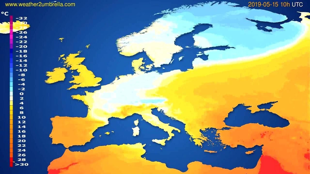 Temperature forecast Europe // modelrun: 00h UTC 2019-05-13