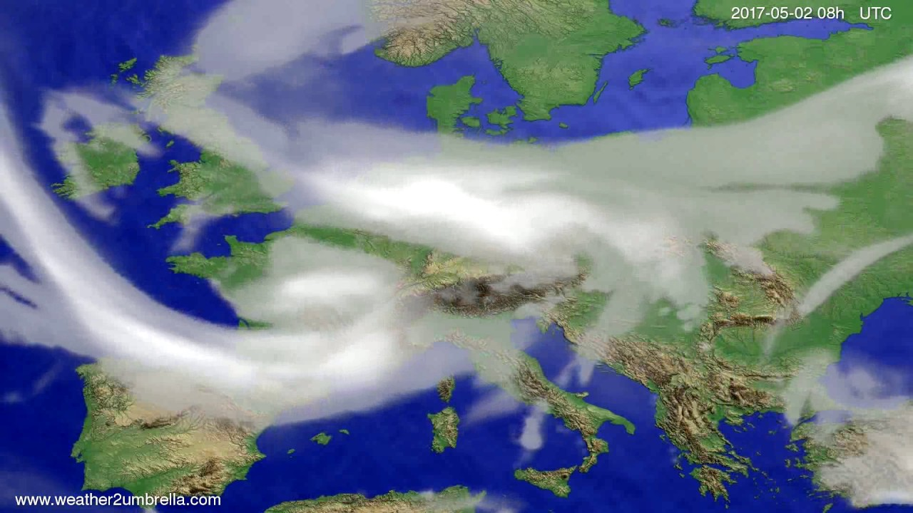 Cloud forecast Europe 2017-04-29