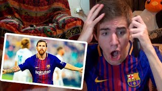 Barcelona vs Real Madrid 3-2 2017 REACCIONES DE UN HINCHA