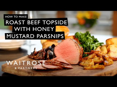 Roast Beef Topside With Honey Mustard Parsnips | Waitrose