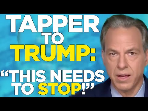 🔥 Jake Tapper to Trump: This is IMMORAL and NEEDS TO STOP!