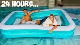 Video Living In My Friends Pool For 24 Hours! MP3, 3GP, MP4, WEBM, AVI, FLV September 2019