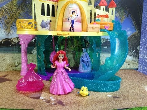 Disney Princess The Little Mermaid Castle Playset with Disney Princess Ariel and Flounder