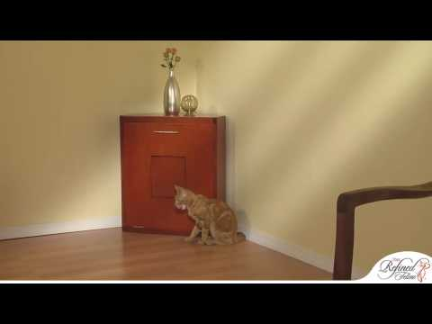 Corner Cat Litter Cabinet from The Refined Feline
