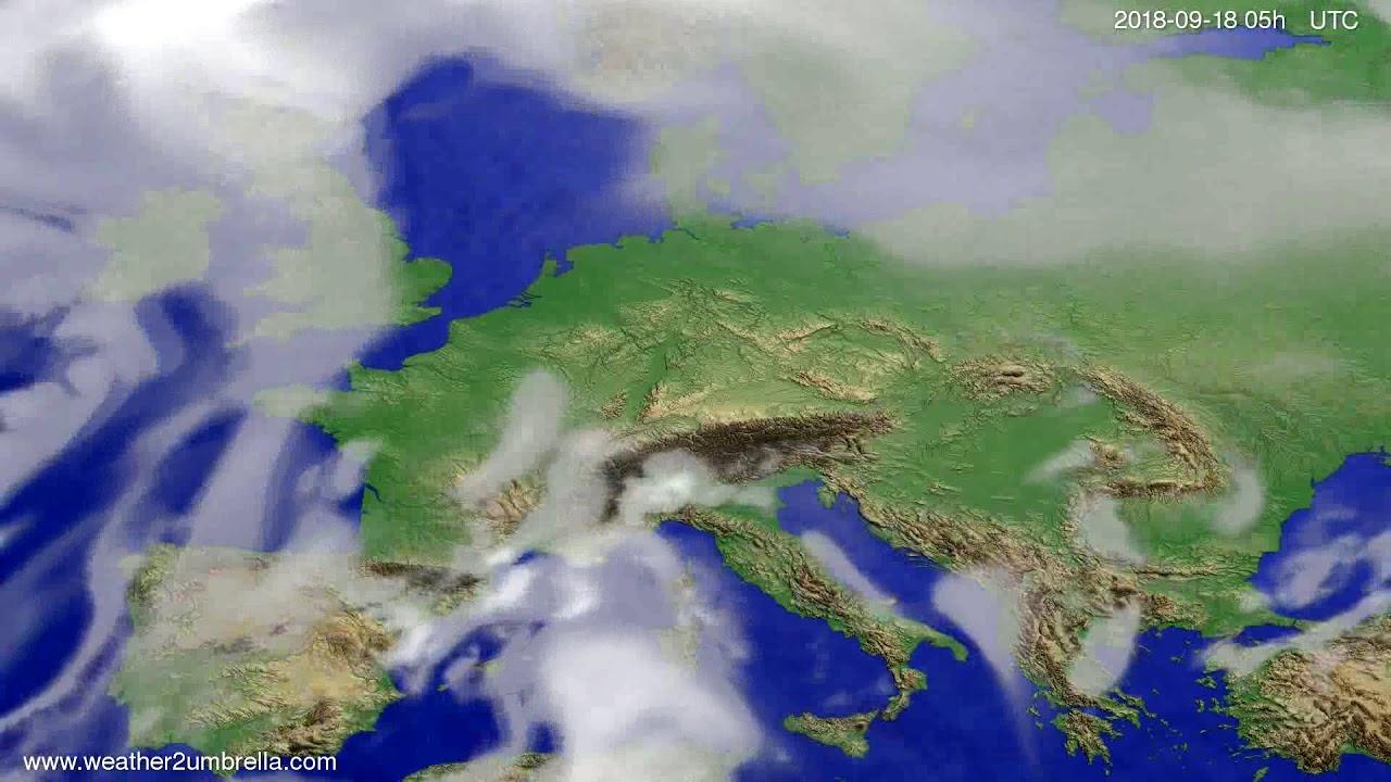 Cloud forecast Europe 2018-09-15