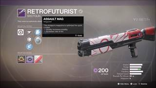 Destiny 2 Retrofuturist Legendary Shotgun Gameplay
