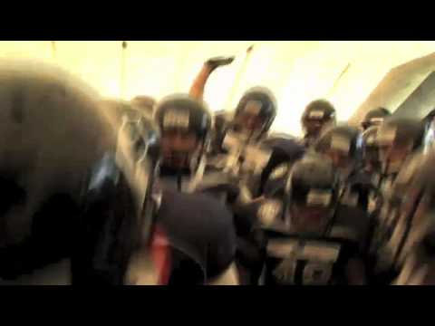 American Football Team from Germany get pumped up before game