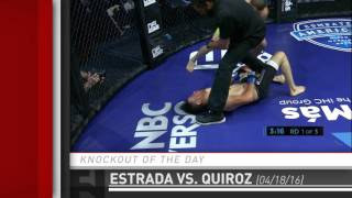 Knockout of the Day: Jose Estrada Catch & Counter KO on Jonathan Quiroz at Combate Americas 3 by Fight Network