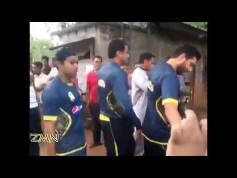 Kumar Sangakkara interacts with kids and plays the violin on an Indian TV show