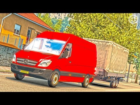 Mercedes Benz Sprinter + Trailer v1