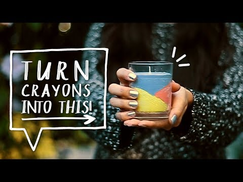 How To Make A Crayon Candle!!!