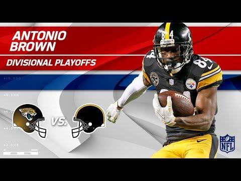 Video: Antonio Brown's 7 Grabs, 132 Yards & 2 TDs! | Jaguars vs. Steelers | Divisional Round Player HLs