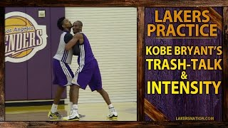 Kobe Bryant Trash-Talking At Lakers Practice (VIDEO)