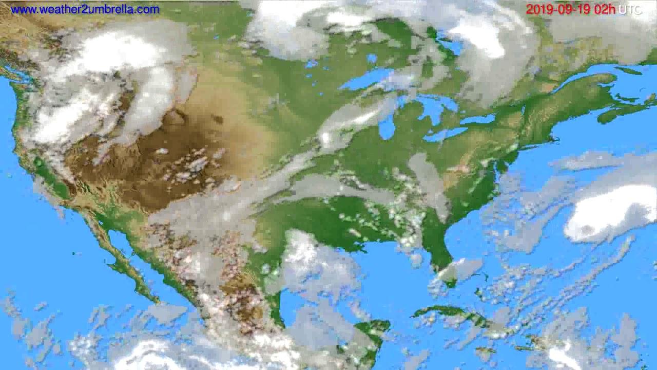 Cloud forecast USA & Canada // modelrun: 00h UTC 2019-09-17
