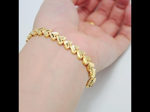 latest designer gold bracelet designs for girls/fashion9tv