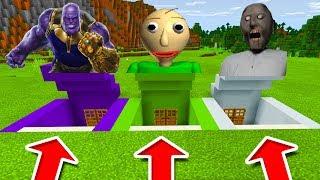 Video Minecraft PE : DO NOT CHOOSE THE WRONG SECRET BASE! (Thanos, Baldi's Basics & Granny) MP3, 3GP, MP4, WEBM, AVI, FLV Oktober 2018