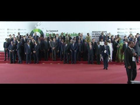 COTE D' IVOIRE:Sommet UA-UE_les discours d'ouverture de la plénière
