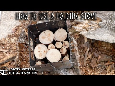 Campfire In Folding Stove - Swedish Candle Principle | Bjørn Andreas Bull-hansen