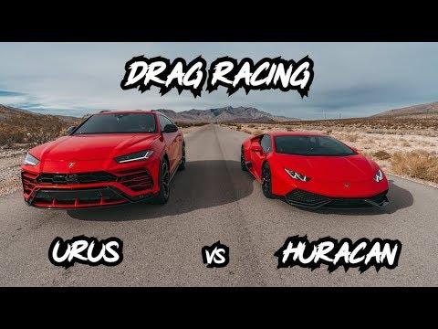 Lamborghini Urus vs Lamborghini Huracan *DRAG & ROLLING RACE*