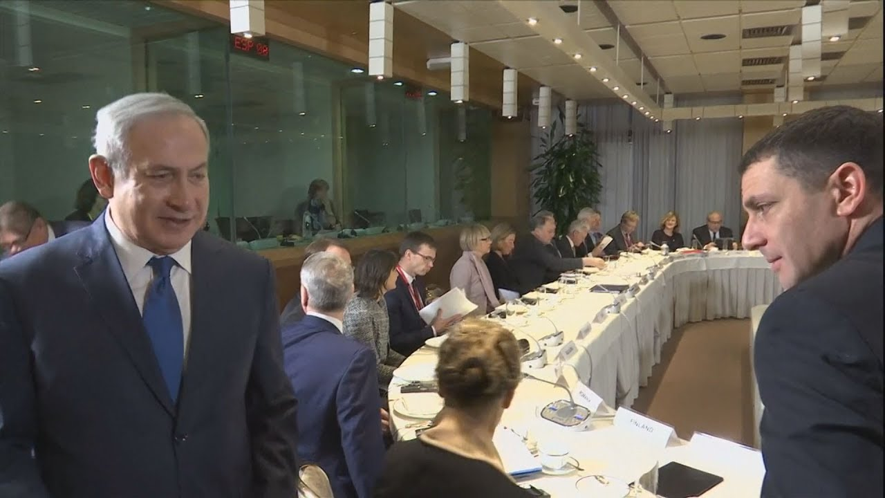 Ο Ισραηλινός πρωθυπουργός Νετανιάχου συναντάται με τους ΥΠΕΞ της ΕΕ