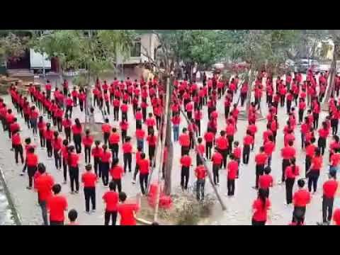 Màn đồng diễn của các em hs trường THCS Đỉnh Bàn - Thạch Hà - Hà Tĩnh