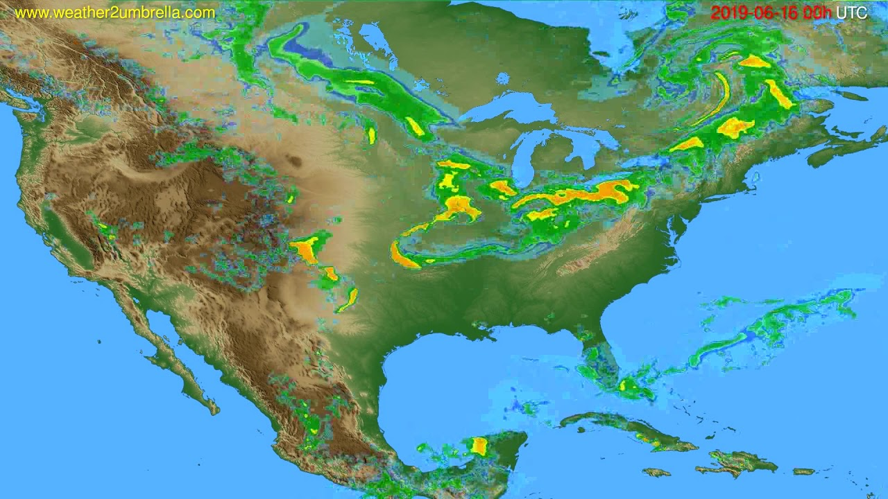 Radar forecast USA & Canada // modelrun: 12h UTC 2019-06-15