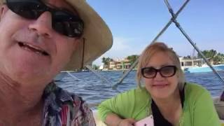 Anchored at a Sand Bar in Ft Lauderdale Harbor - fantastic day for a party on the water