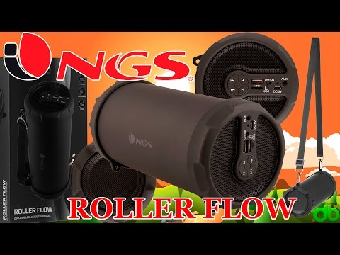 Altavoz 20W BT 2.1 Roller Flow de NGS portátil Radio, Bluetooth, MP3, MicroSD, USB Unboxing y Review