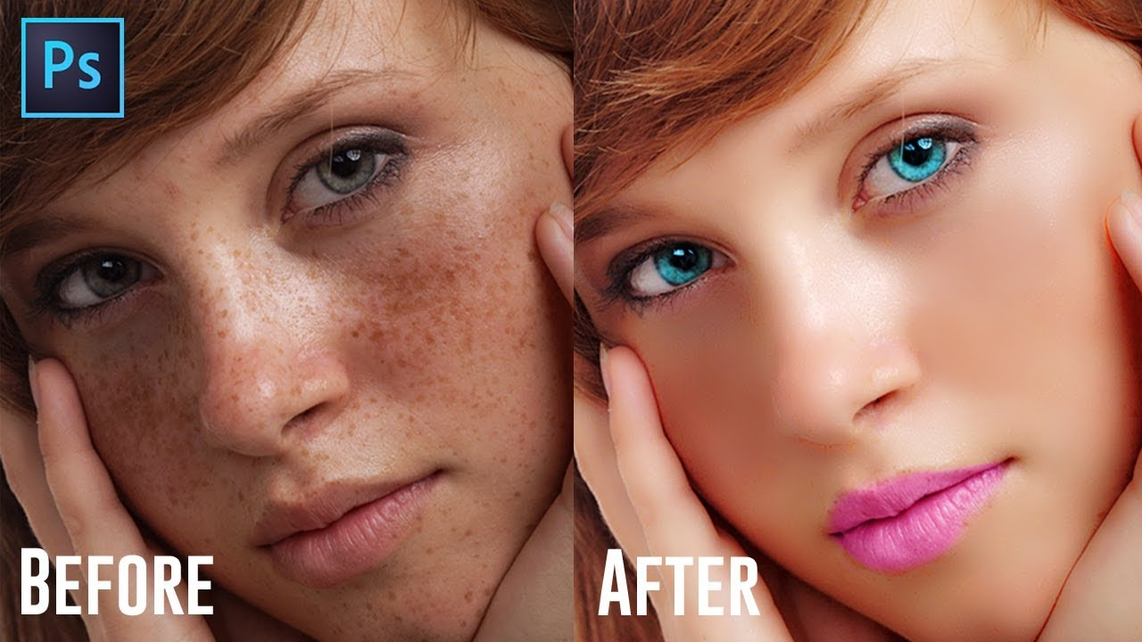 photo retouching tutorial fashion portrait girl