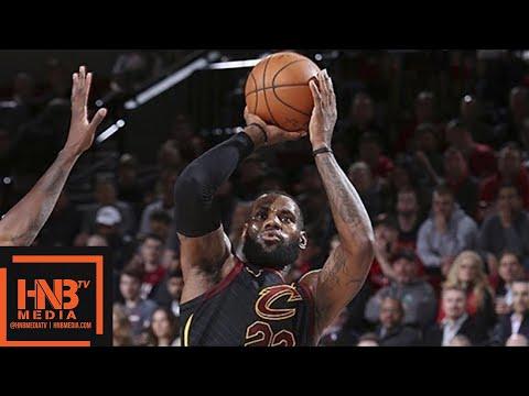Cleveland Cavaliers vs Portland Trail Blazers 1st Half Highlights / March 15 / 2017-18 NBA Season