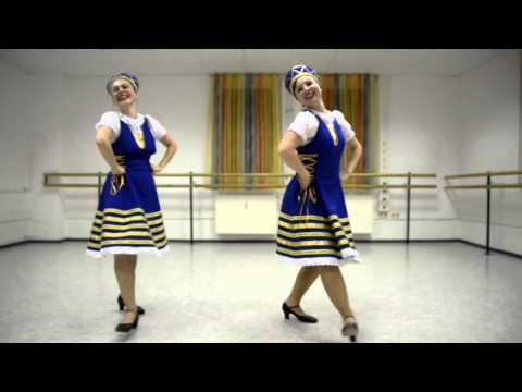Народные танцы: Калинка. Урок видео обучения.