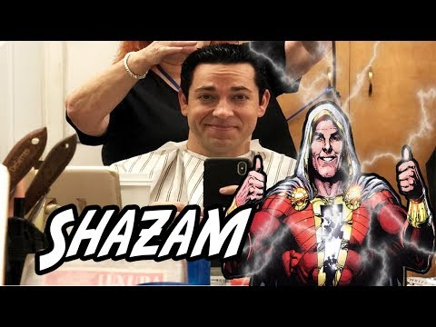 Zachary Levi shows Shazam haircut, director talks Shazam costume!